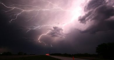 Forte ciclone deve ter reflexos no clima em Santa Catarina.