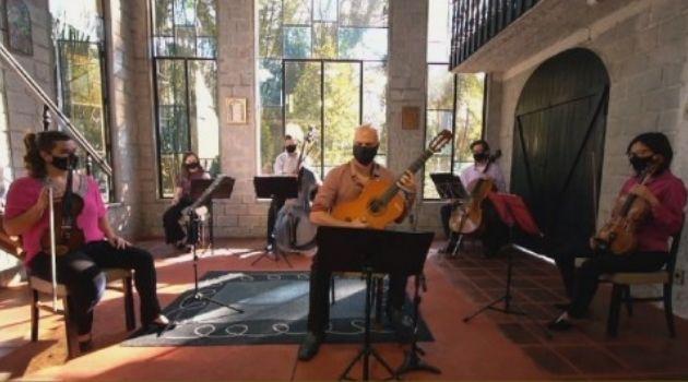 """Orquestra de Cordas da ilha faz última Live do """"Projeto Saudades""""."""