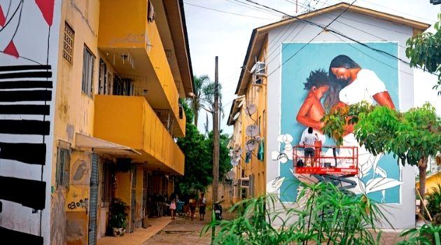 Conjunto habitacional do bairro Abraão recebe murais artísticos