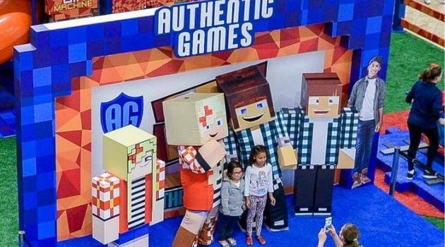 Authentic games é atração gratuita no Continente shopping.