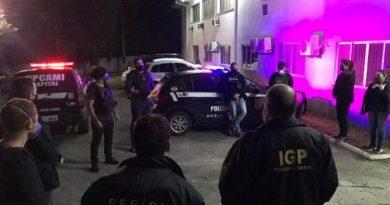 Polícia civil prende dois homens por posse de pornografia infantil em Florianópolis.