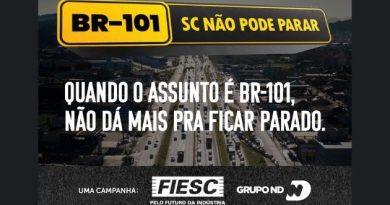 FIESC e Grupo ND lançam campanha BR-101 – SC não pode parar