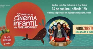 Mostra de Cinema Infantil de Florianópolis inicia neste sábado, (16).